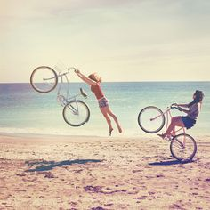 Beach, Bicycles and Sunshine. Perfection.