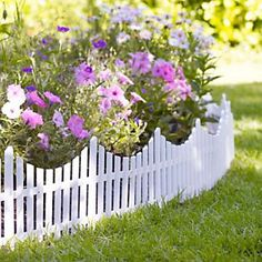 Mini White Picket Fence