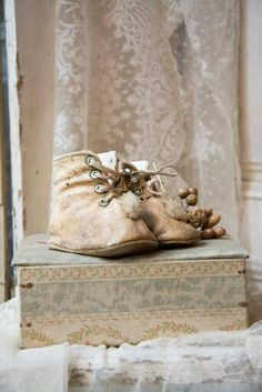 Wonderful French Baby Shoes and Box ~