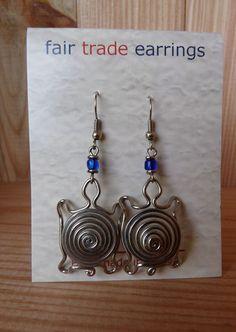 Wire Jewelry Earrings | ... African Jewelry Silver Wire Turtle Coils Earrings Kenya Fair Trade