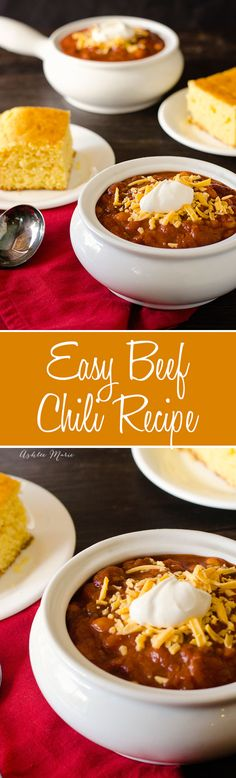 my moms beef chili recipe, easy to make and everyone loves it