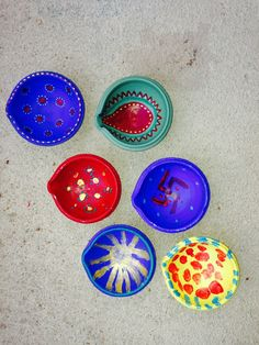 Diwali traditions from Indian American Mom. Make your own colorful Diwali diyas ...