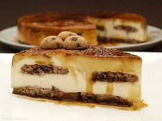 Tarta de queso y galletas Chips Ahoy - MisThermorecetas Flan, Chips Ahoy, Cheescake Recipe, Crazy Cakes, Cheesecakes, Food Styling, Food And Drink, Sweets, Baking