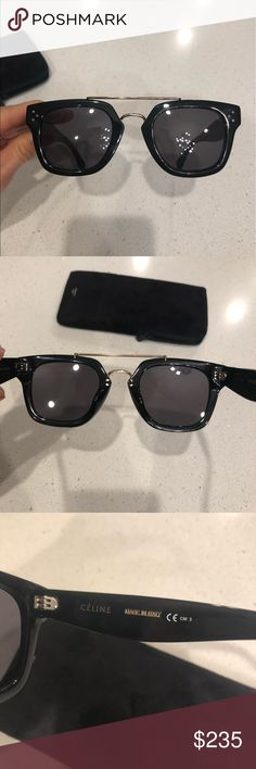 88fcd5c4a55 Shop Women s Celine Black size OS Sunglasses at a discounted price at  Poshmark. Description  Celine Black grey sunglasses Like new. No scratches.