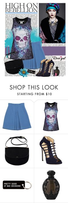 """""""Rosegal"""" by polybaby ❤ liked on Polyvore featuring Miu Miu, Giuseppe Zanotti, Various Projects, Kat Von D and Sugarpill"""