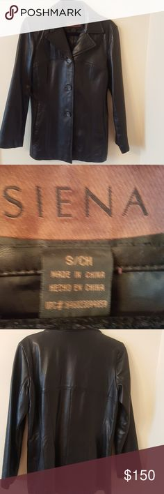 Siena Leather Jacket 100% leather gently worn great for fall weather!! Siena Jackets & Coats Blazers