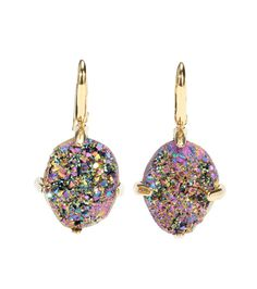 Christopher Kane Embellished Earrings For Spring-Summer 2017 Christopher Kane, Style Guides, Iridescent, Belly Button Rings, Drop Earrings, Jewelry, Colorful, Styling Tips, Aud