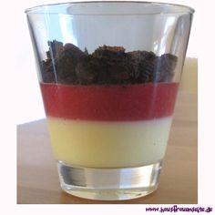 Deutschland-Pudding-Dessert das Deutschland-Pudding-Dessert erfand Fropsi für die WM 2014 vegetarisch