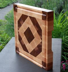 End Grain Cutting Board by Sage Woodcraft - Cutting Board - Ideas of Cutting Board End Grain Cutting Board, Diy Cutting Board, Wood Cutting Boards, Kitchen Board, Wood Plans, Wood Creations, Wood Design, Wood Turning, Wood Art