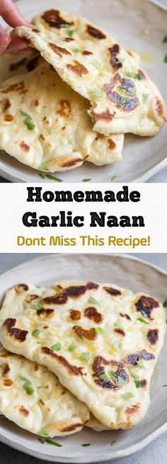 Homemade Garlic Naan - Dont Miss This Recipe! Garlic Naan – Dont Miss This Recipe! Homemade Garlic Naan – Dont Miss This Recipe! Bread Recipes, Cooking Recipes, Diet Recipes, Naan Recipe, Quick Naan Bread Recipe, Garlic Naan, Garlic Bread, Indian Food Recipes, Ethnic Recipes