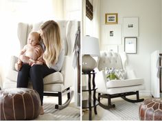 upholstered rocking chair for nursery with ottoman