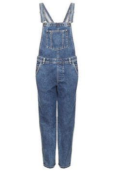 MOTO Long Leg Dungaree - Rompers and Jumpsuits - Clothing Long Overalls, Blue Overalls, Denim Dungarees, Blue Jumpsuits, Playsuits, Pepe Jeans, Salopette Jeans, 00s Fashion, Long Romper