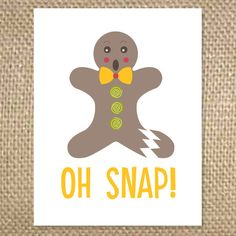 Outside - Oh Snap!  Inside - try to keep it together this holiday season