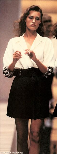 Yasmin Le Bon - Gianni Versace  spring/summer 1988