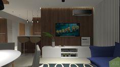 Living com painel em madeira ripado. Projeto Hug Arquitetura #design #decor #designdeinteriores #arqdesign #architecture #instahome #interiordesign #arquiteturadeinteriores #decorismo #arquiteturadeinteriores #homedecor #cool #modern #passofundo #portoalegre #salatv #estante #hometheater #living