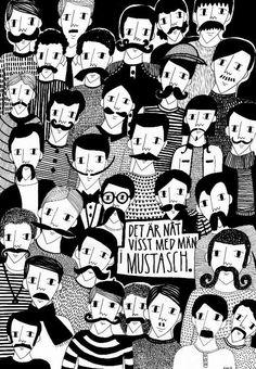 det är något visst med män i mustasch