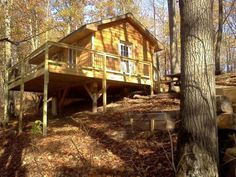 """Looking for a log cabin? We've got your gas: This 336-square-feet Minnesota home is the perfect wooded retreat, made from solid pine logs and supposedly """"bug and mouse proof"""" (Hallelujah!). It's even squeezed two beds into the tiny space. Location: Garrison, MNSquare Feet: 336Price: $44,900 Zillow  - HouseBeautiful.com"""