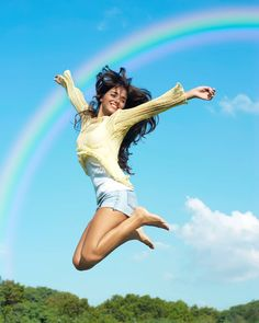 Imagine joy leaping from heart to heart throughout the world. Let it start with you.     #joyful_sky #joyinthejourney #joyful_pics #rainbow #jumpforjoy #jumping #violetflame #violetfire Rainbow Connection, Jumping For Joy, Throughout The World, Herbalife, Journey, Poses, Let It Be, Running, Motivation