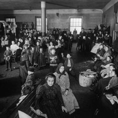 Ellis Island Immigrants | Immigrants Awaiting Examination at Ellis Island, 1902 Premium Poster ...