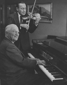 Harry truman at the piano - with Jack Benny on Violin