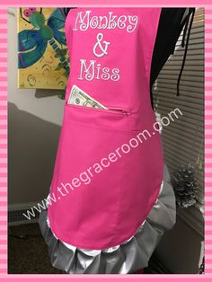A personal favorite from my Etsy shop https://www.etsy.com/listing/468901744/monogrammed-sassy-full-size-vendor-apron