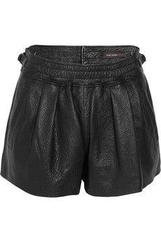 Isabel Marant  Abon textured leather shorts  $1005