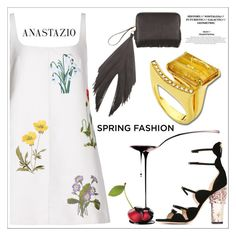 """Anastazio-spring dress"" by anastazio-kotsopoulos ❤ liked on Polyvore featuring STELLA McCARTNEY, Giambattista Valli, Anastazio and The Volon"