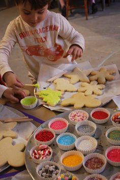 Kids' Cookie Workshop!  This example is for a holiday cookie workshop, but this could be a great play date or party idea as well.