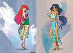 disney-princesasmodernas-ariel-jasmine