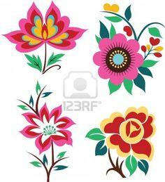 artistic flower set graphic design Stock Photo - 9358136