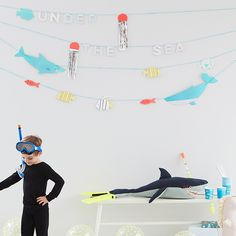 Slinger Under the Sea Meri Meri ✓ Under the Sea ✓ Meri Meri ✓ Thema feestjes ✓ Voor besteld, morgen in huis! Under The Sea Party, Party Themes, Parties, Products, Party, Fiestas, Gadget, Holidays