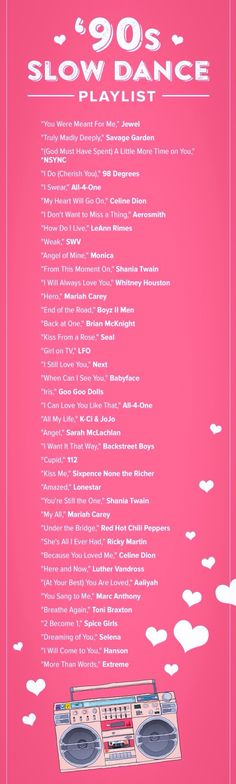 Prom Songs That Made You Fall Truly Madly Deeply in Love book your Wedding, Prom, Corporate event, and Birthday party today. use promo code: We're taking it back to prom circa the with this sweet playlist. Design your playlist instantly Dance Playlist, Wedding Playlist, Party Playlist, Prom Songs, 90s Prom, Beste Songs, Christina Perri, Love Deeply, Truly Madly Deeply