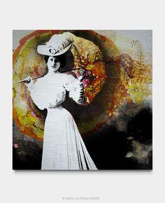 Estampe numérique signé Gohu Année : 2018 Format : 30 x 30 pouces (Parapluie – Femme) Signs, Art, Printmaking, Sun, Craft Art, Novelty Signs, Sign, Kunst, Gcse Art
