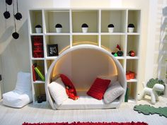 I think this would be neat in a craft room...somewhere the kids could hang out while you are crafting :O)