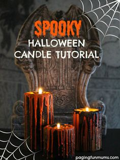 DIY Halloween Candle Centrepiece using Crayons! So EASY!
