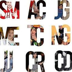 Shawn Mendes,  Aaron Carpenter, Jack Gilinsky, Matt Espinosa,  Taylor Caniff, Nash Grier, Jack Johnson, Carter Reynolds and Cameron Dallas (MagCon Boys)