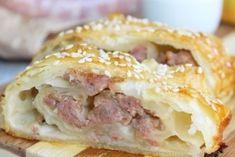 Strudel, Super Mario, Pizza Rustica, Antipasto, Romanian Food, Tasty, Yummy Food, Party Snacks, Bagel