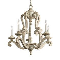 Shop for Kichler Lighting Hayman Bay Collection Distressed Antique White Chandelier. Get free delivery On EVERYTHING* Overstock - Your Online Ceiling Lighting Store! Get in rewards with Club O! Chandelier Design, Country Chandelier, Candle Chandelier, 5 Light Chandelier, Chandeliers, Chandelier Makeover, Farmhouse Chandelier, Kitchen Chandelier, 3d Letters