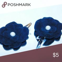 Handmade Girls black leather hairclips Handmade black suede leather  hairclips.Perfect touch to any girls outfit or Photo shoot. Set of 2.Bundle 2 or more get 10% off.Thank you Handmade by leatherblums Accessories Hair Accessories