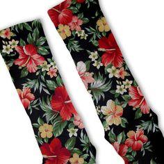 Fresh Elites Hawaiian Floral Customized Nike Elite Socks