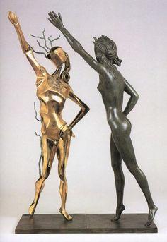Salvador Dali Hommage a Terpsichore (La Danse), circa 1984 - bronze Salvador Dali Artwork, Great Works Of Art, Sand Art, Bronze, Modern Art, Street Art, History, Image, Models