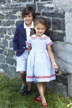 Inspiration for the Oliver + S Building Block Dress sewing book. Look Girl, Block Dress, Stylish Kids, Little Girl Dresses, Beautiful Children, Kids Wear, Boy Fashion, Baby Dress, Cute Kids