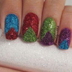 Glitter nail art@ nailsbynikkih