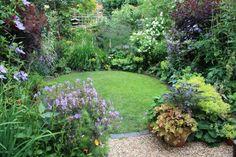 idée pour aménager un petit jardin rond