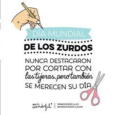 Día mundial de los zurdos   by Mr. Wonderful* Mr Wonderful, We Bare Bears, Im Happy, Memes, Best Quotes, Nice Quotes, Singing, Lol, Humor