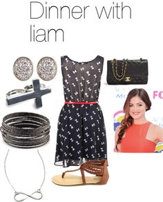 """""""dinner with liam"""" by adriana-diaz ❤ liked on Polyvore"""
