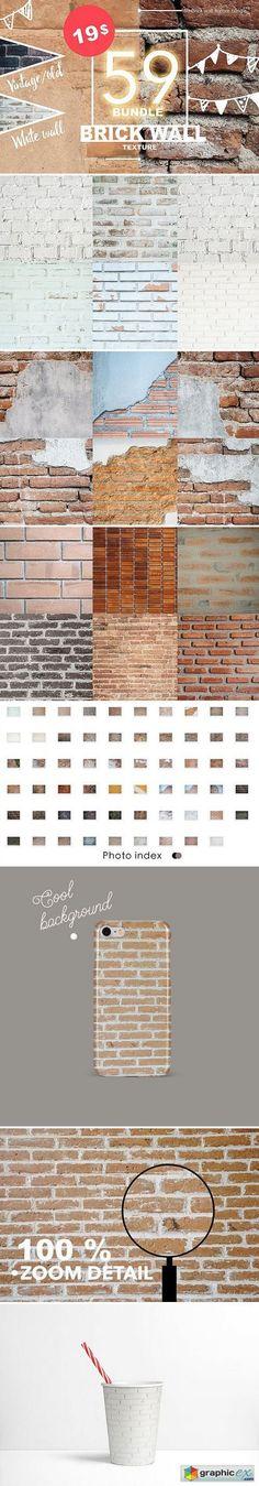 59 Brick wall texture bundle 01  stock images