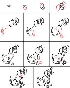 Learn to draw a dog -- Hundreds of how-to-draw tutorials