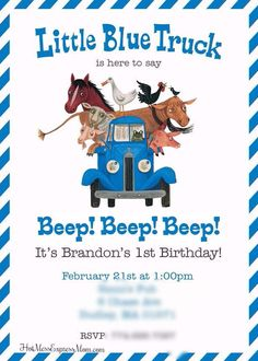 We read Little Blue Truck & Little Blue Truck Leads the Way at least four times a week, so it was a no-brainer when it came to pic. Little Truck, Little Blue Trucks, First Birthday Parties, 3rd Birthday, First Birthdays, Hot Mess, Things To Come, Baby Boy, Diy Crafts