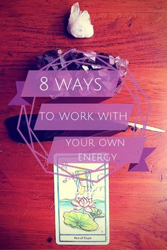 8 Simple Ways to Work With Your Own Energy. Working with your own energy helps you to feel grounded, relaxed, and connected to your inner self.  You will hear your intuition talking a little bit louder.  Your will feel more like yourself.  The *true* YOU.